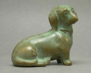 Bronze Metal Dachshund Dog Figurine Resembles SRG