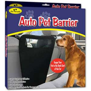 AUTO PET BARRIER Dog Safety Device for Auto SUV Van Car 017874004171