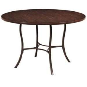 Hillsdale Cameron Round Wood & Metal Dining Table