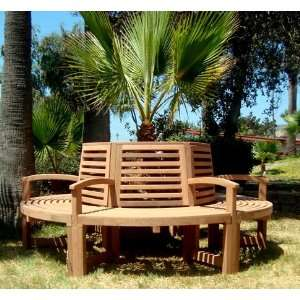 Forever Redwood 7 Ft Luna Tree Bench Patio, Lawn & Garden