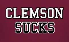 USC SOUTH CAROLINA GAMECOCKS CLEMSON SUCKS T SHIRT S 3X