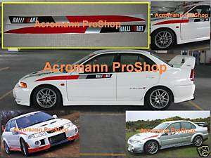 Ralliart Extreme side door stripe decal sticker EVO VI