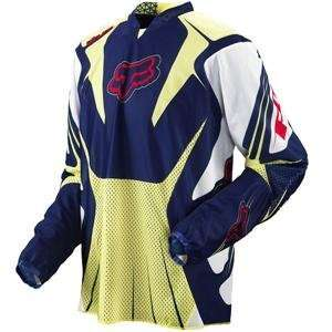 Fox Racing Airline Jersey   2008   Small/Blue Automotive