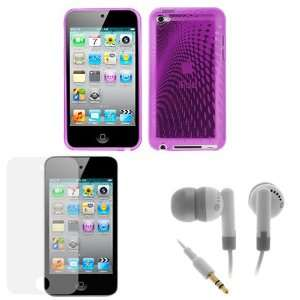 GTMax Melody Purple Gel Cover Case + LCD Screen Protector