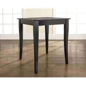Crosley Furniture Cabriole Leg Pub Table   Black