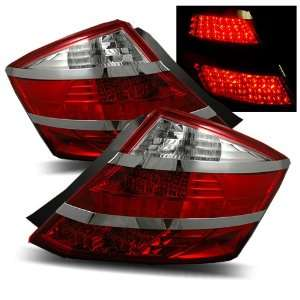 08 11 Honda Accord Coupe Red/Clear LED Tail Lights Automotive