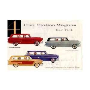 1954 FORD STATION WAGON Sales Brochure Literature Book Automotive