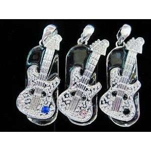 8GB Small Crystal Guitar Style USB Flash Drive with