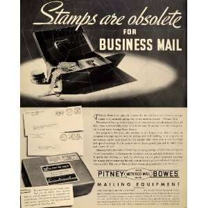 1937 Ad Business Mail Stamps Postal Service Office
