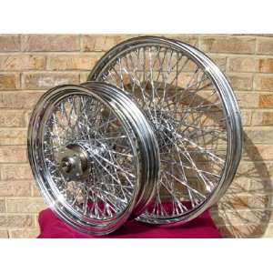 CUSTOM CHOPPER WHEEL SET FOR HARLEY SOFTAILS, CHOPPERS AND DYNA WIDE