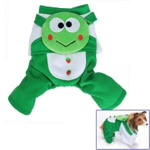 Green Frog Pet Dog Coat JumpSuit w/ Backpack   M