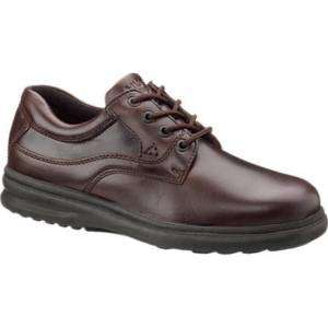 HUSH PUPPIES Mens Glen Shoe, Dark Brown Leather H19078