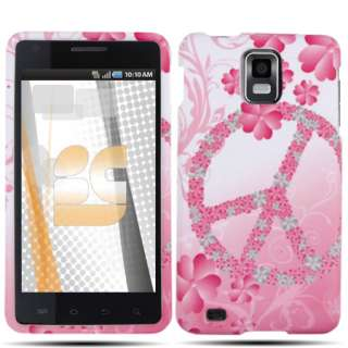 FOR NEW Samsung Infuse i997 PINK WHITE PEACE COVER CASE