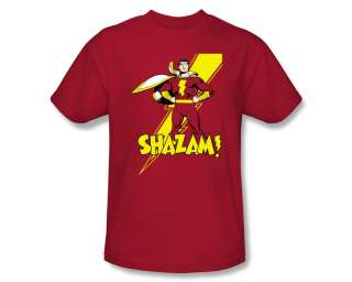 Marvel Shazam Lightning Pose DC Comics Superhero T Shirt Tee
