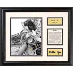 Bettie Page   Leopard Bikini   Framed 7 x 9 Photograph