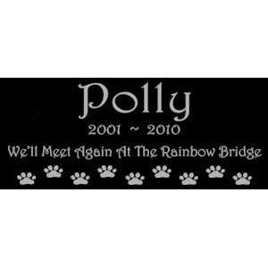 Gifts Personalized Black Granite Pet Memorial Marker Style Polly Pet