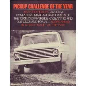 1967 FORD PICKUP CHALLENGE Sales Brochure Book Automotive