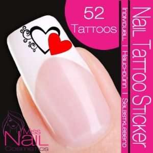 Nail Tattoo Sticker Valentine Day / Heart   red Beauty