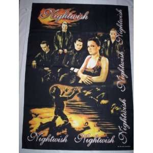 NIGHTWISH 5x3 Feet Cloth Textile Fabric Poster