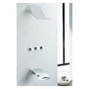 Contemporary Wall Mount Rainfall Shower Faucet (Chrome