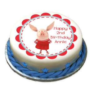 OLIVIA PIG Edible Cake Image Custom Party Decoration