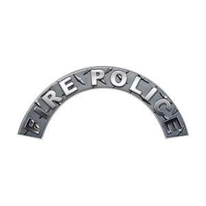 Fire Police Diamond Plate Firefighter Fire Helmet Arcs / Rocker Decals