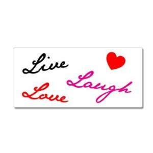Live Laugh Love Heart   Window Bumper Sticker Automotive