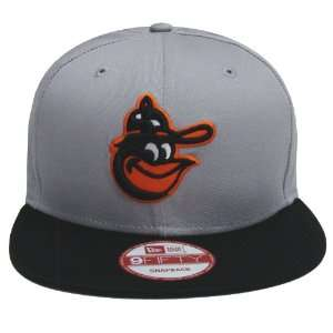 Baltimore Orioles Retro New Era Logo Hat Cap Snapback Grey