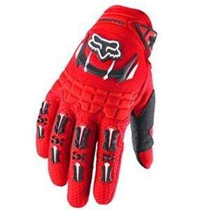 Fox Racing Youth Dirtpaw Gloves   Youth Small/Bright Red