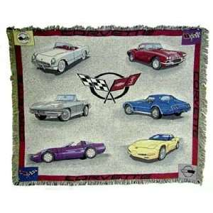 Chevrolet Chevy Corvette Cotton Throw Blanket Afghan Gift