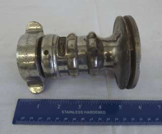 Vintage Chrome & Brass Fire Hose Nozzle Adapter Elkhart Brass MFG Co