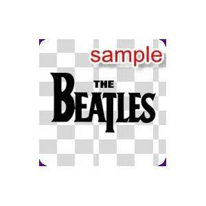 PEOPLE THE BEATLES 10 WHITE VINYL DECAL STICKER