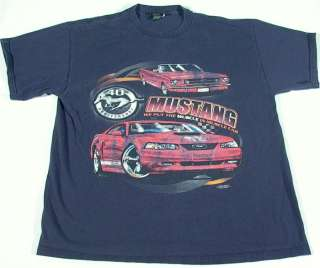 FORD MUSTANG Muscle Car 40th Anniversary T Shirt   FREE