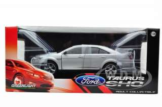 Brand new 124 scale diecast car model of 2010 Ford Taurus SHO Silver