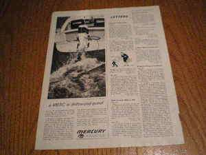 1962 Kiekhaefer Mercury Outboards Boat Ad A Merc is Driftwood Proof