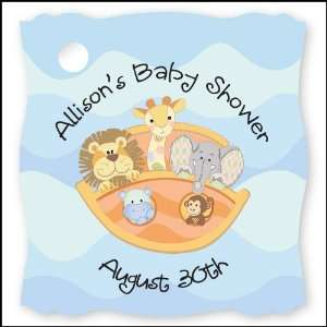 Noahs Ark   20 Personalized Baby Shower Die Cut Card
