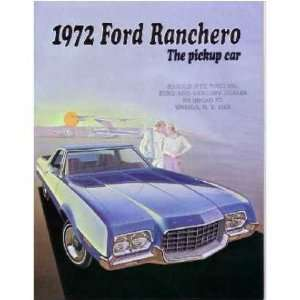 1972 FORD RANCHERO Sales Brochure Literature Book