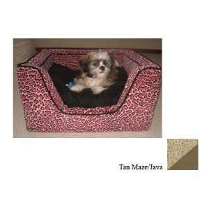 Snoozer Luxury Square Pet Bed, X Large, Tan Maze/Java