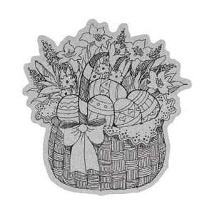 Penny Black Cling Rubber Stamp 4X5.25 Easter Basket
