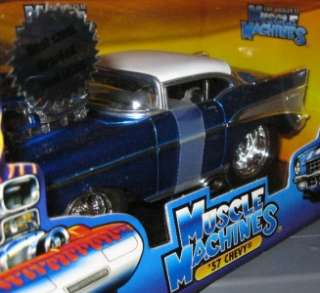 1957 CHEVY 124 Scale Diecast Muscle Machines