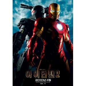 Iron Man 2 Poster Korean B 27x40 Robert Downey Jr Scarlett