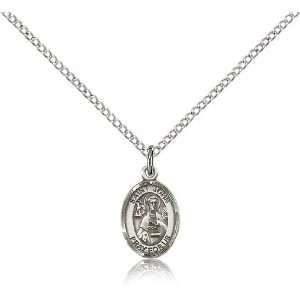 925 Sterling Silver St. Saint John the Apostle Medal Pendant 1/2 x 1