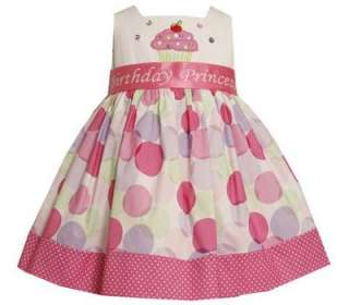 Bonnie Jean Toddler Girls Princess Poka Dot Cupcake Birthday Party