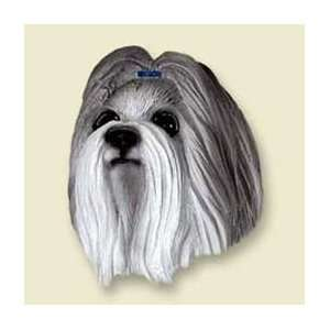 Shih Tzu Dog Magnet   Gray & White