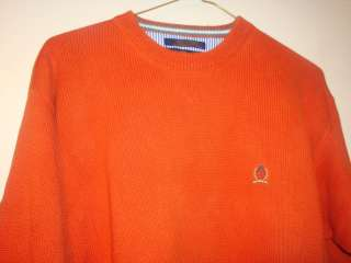 Brand New without Tags Tommy Hilfiger Mens Orange Sweater XXL   XX