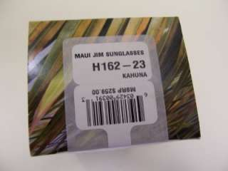 New Authentic Maui Jim 162 H162 23 KAHUNA Sunglasses