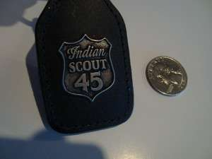 Indian Motorcycle / Indian Black Leather Key Chain/ Key Fob