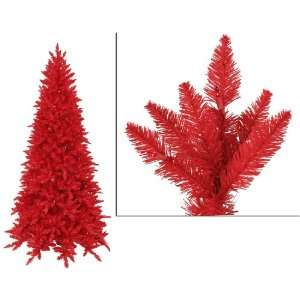 New   9 Pre Lit Slim Red Ashley Spruce Artificial