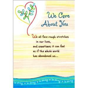 Blue Mountain Arts Encouragement Greeting Card We Care