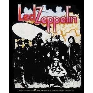 LED ZEPPELIN II ALBUM COVER SQUARE STICKER